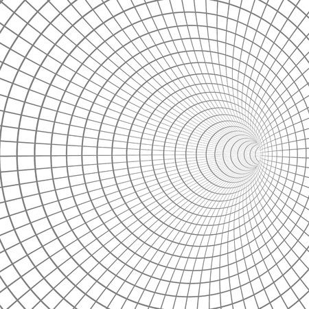 Illustration of Spiral Tunnel. Wireframe Technology Vortex Tunnel Illusion Background Stock Vector - 87105283