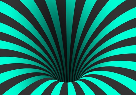 black hole: Illustration of Spiral Optical Illusion Template. Spiral Twisted Vortex Tunnel Shape Illustration