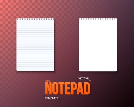 paper background: Illustration of Notepad Template.