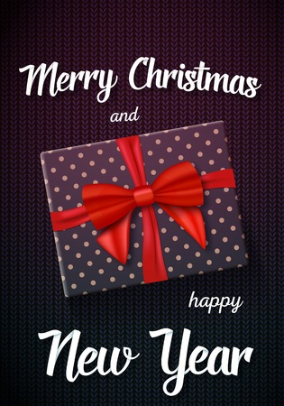 day: Illustration of Marry Christmass Gift Card.