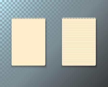 paper note: Illustration of Notepad Set. Illustration