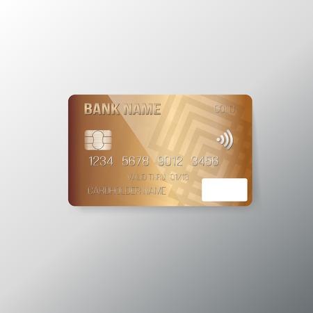 Illustration of Realistic Credit Card Mockup