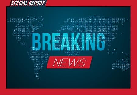 Illustration of Breaking News Banner.