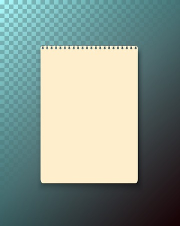Illustration of Realistic  Black Notepad Template Icon