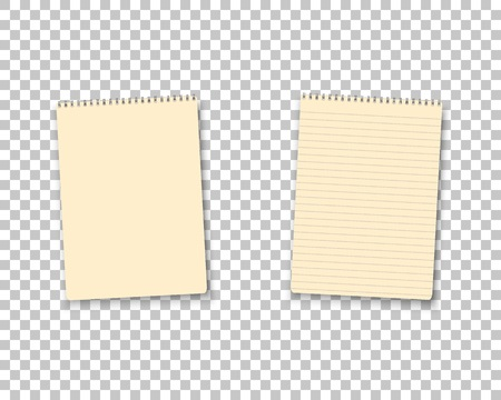Illustration of Realistic Blank Notepad TextBook Icon.