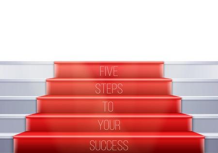 Illustration of Stairs Template. Ilustracja