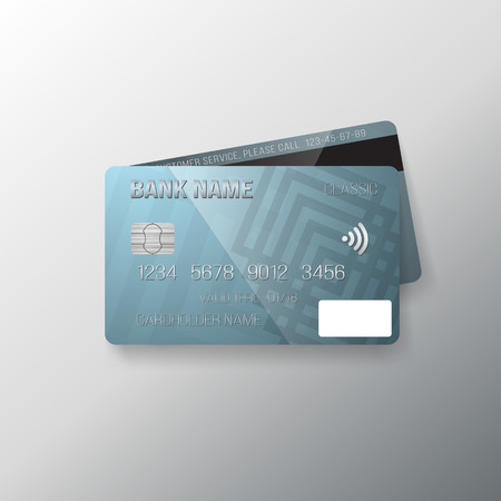 Illustration of Realistic Credit Card Template