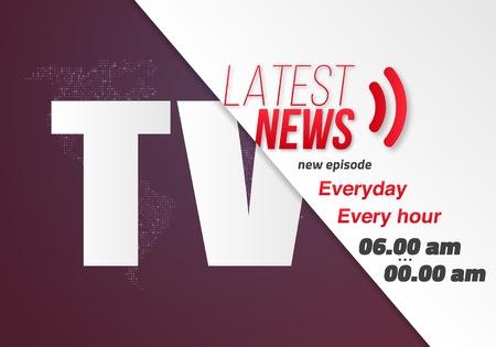 Illustration of TV News Opening Scene.