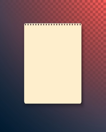Illustration of Realistic  Blank Text Book Icon.