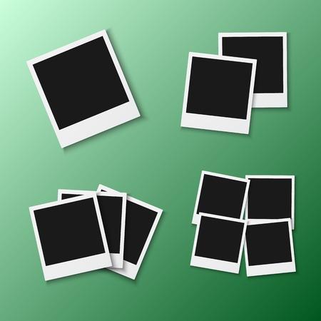 Illustration of Photo Frame. Realistic Snapshot Icon Square Photo Template Ilustracja