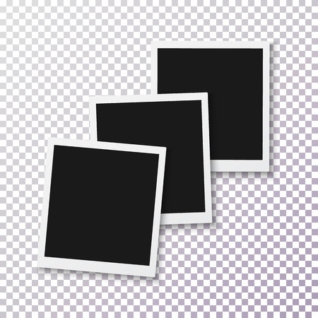 Illustration of Photo. Realistic Instant Photo Frame Template