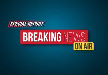Illustration of Breaking News Opening Scene. Broadcast Breaking News Banner Template Ilustracja
