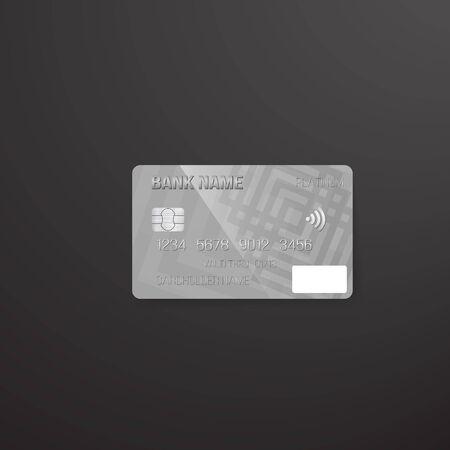 Illustration of Photorealistic  Credit Card on Dark Background