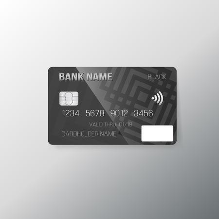 Illustration of Realistic Credit Card Mock up