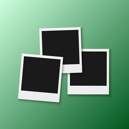 Illustration of Photo Frame. Realistic Snapshot Modern Photo.