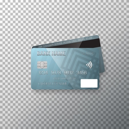 Photorealistic Bank Card Isolated on Transparent Background