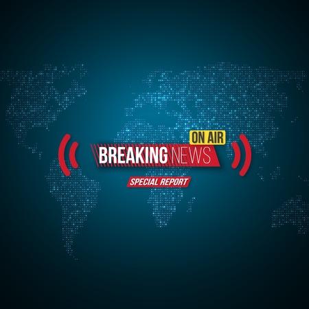 Broadcast Open Scene on Glowing Earth Planet Background