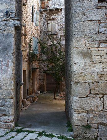 passageway: Old passageway in an old Istrian village in Europe