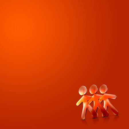 3d couple Illustration of