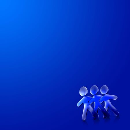 romantics: 3d couple Illustration of Happy Valentines Day over a blue background.