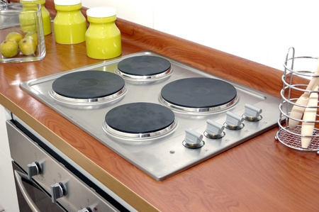 electric stove: electric cooker Stock Photo