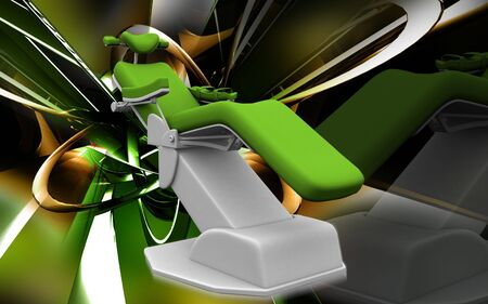 dental chair: Digital illustration of dental chair in colour background