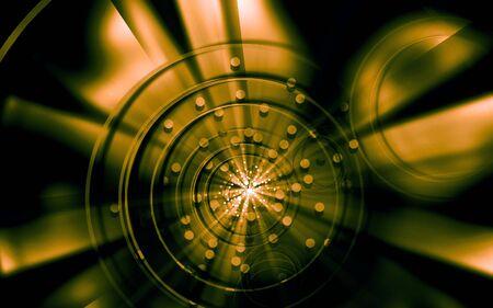 Digital illustration of color in digital background Stock Illustration - 6657368
