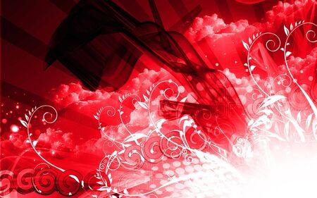 Digital illustration of color in digital background Stock Illustration - 6657404