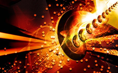 Digital illustration of color in digital background Stock Illustration - 6657375