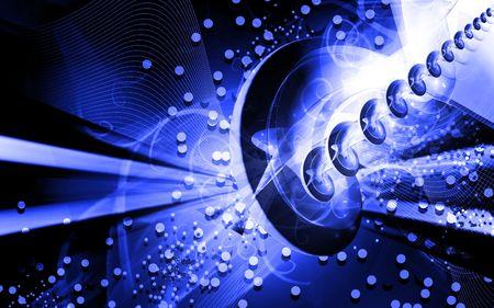 Digital illustration of color in digital background Stock Illustration - 6657415