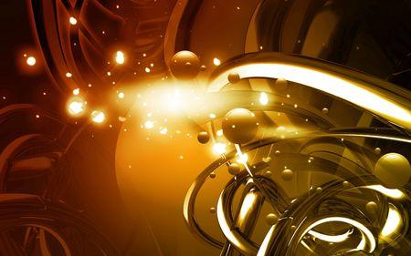 Digital illustration of color in digital background Stock Illustration - 6657490