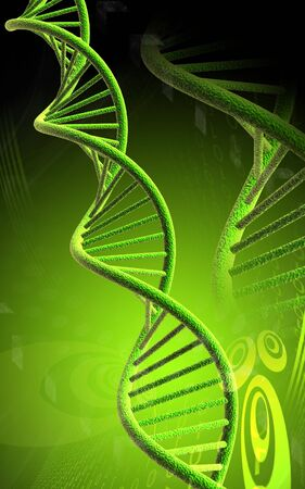 Digital illustration of dna in colour background  Stock Photo