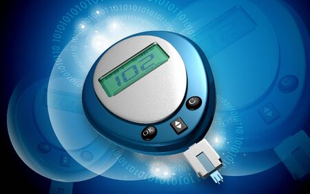 Digital illustration of glauco meter in color background illustration