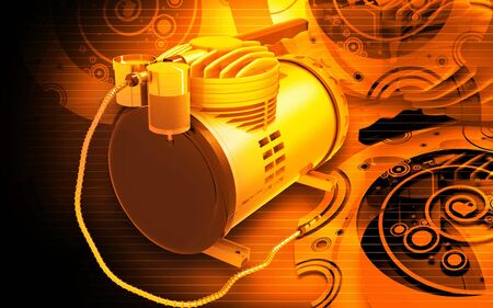 air compressor: Digital illustration of Air Compressor in digital colour background