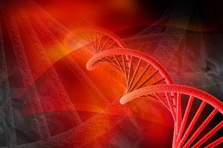 Digital illustration of DNA in color background illustration