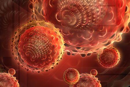 hepatitis virus: Digital illustration of hepatitis virus in color background