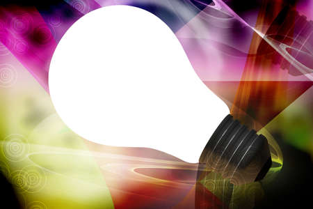 violate: Digital illustration of bulb in abstract color background  Stock Photo