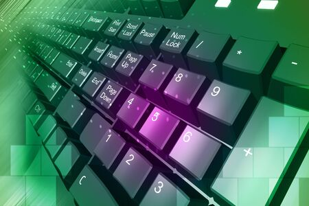 violate: Highly quality rendering of key board in color background  Stock Photo