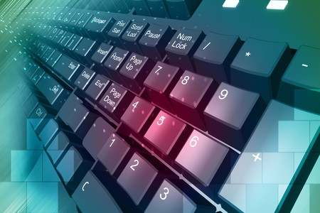 key board: Highly quality rendering of key board in color background  Stock Photo