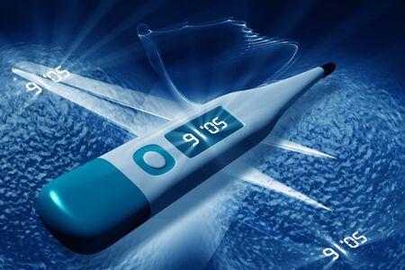 Digital illustration of medical equipment  in color background Stock Illustration - 7297743