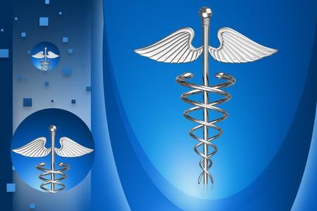 Digital illustration of medical symbol in color background  illustration