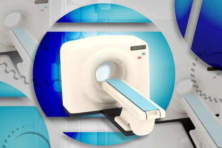Digital illustration of medical equipment  in color background Stock Illustration - 7297919