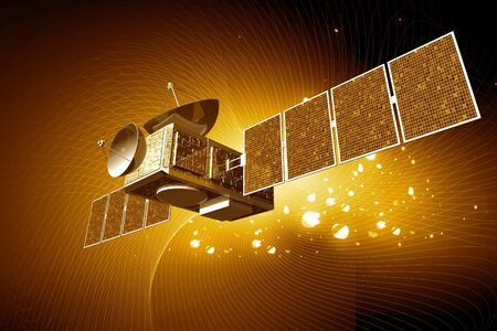Highly quality of satellite  in digital color  background photo
