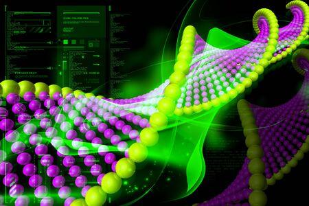 Digital illustration of DNA in color background Stock Illustration - 7859049