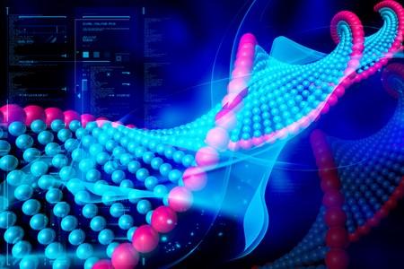 Digital illustration of DNA in color background Stock Illustration - 7859031