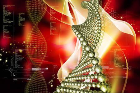 Digital illustration of DNA in color background Stock Illustration - 7859203