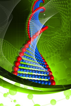 Digital illustration of DNA in color background Stock Illustration - 7859197