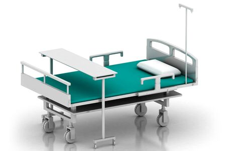 3d multi use hospital bed in abstract white background Stock Photo - 7858702