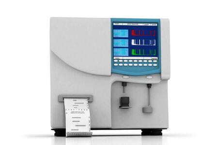 hematology: 3d multi use  hematology analyzer in white background Stock Photo