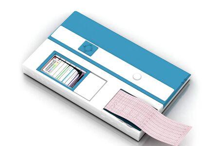hematology: 3d multi use  hematology analyzer in white background